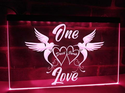 Image of One Love Personalized Illuminated Sign