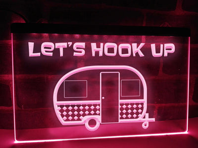Let's Hook Up Trailer Traveller Illuminated Sign