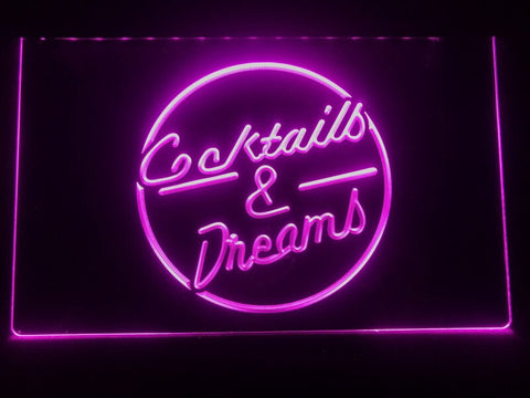 Image of Cocktails & Dreams Illuminated Sign