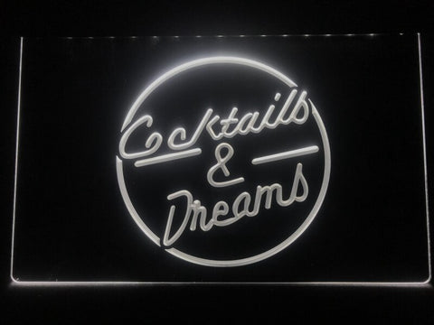 Cocktails & Dreams Illuminated Sign