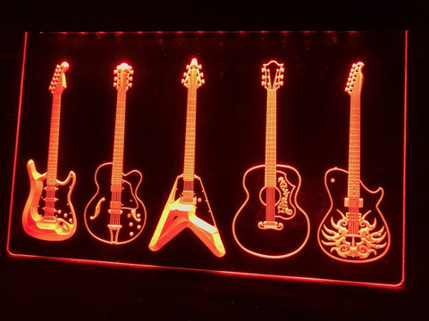 Image of Guitar Line Up Illuminated Sign