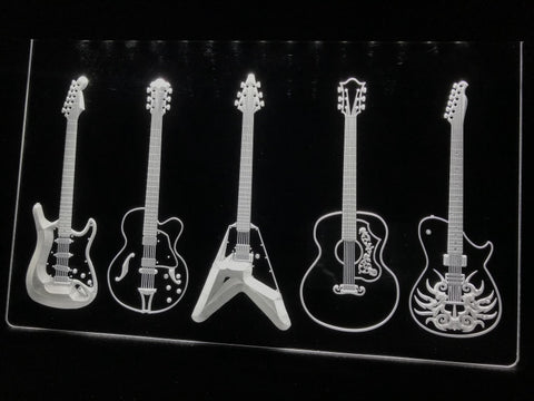 Guitar Line Up Illuminated Sign