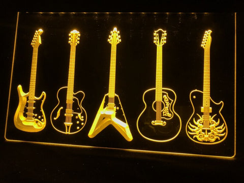 Image of Guitar Line Up Illuminated LED Sign
