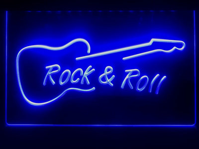 Rock and Roll Guitar Illuminated Sign