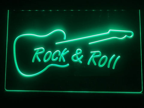 Image of Rock and Roll Guitar Illuminated Sign