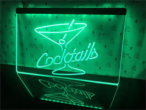 Cocktails Illuminated Sign