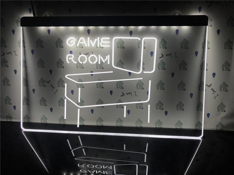 Game Room Pinball Illuminated Sign