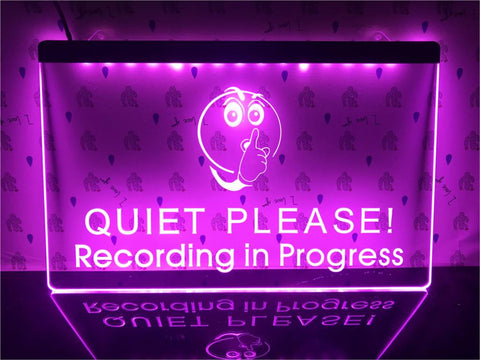 Recording in Progress Illuminated Sign