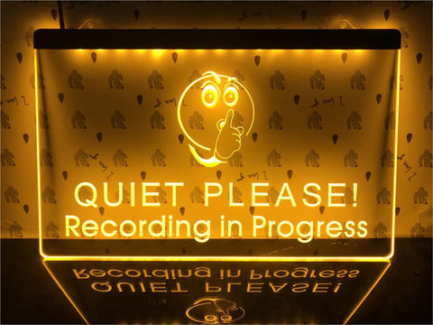 Image of Recording in Progress Illuminated Sign