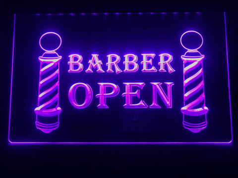 Barbershop Open Illuminated Sign
