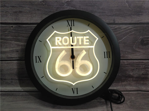 Image of Route 66 Bluetooth Controlled Wall Clock