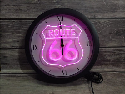 Route 66 Bluetooth Controlled Wall Clock