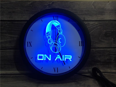 On Air Headset Bluetooth Controlled Wall Clock