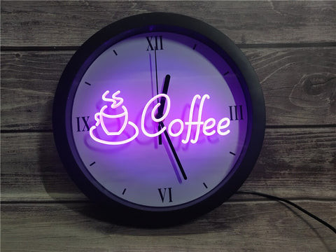 Image of Coffee Shop Bluetooth Controlled Wall Clock
