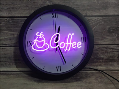 Coffee Shop Bluetooth Controlled Wall Clock