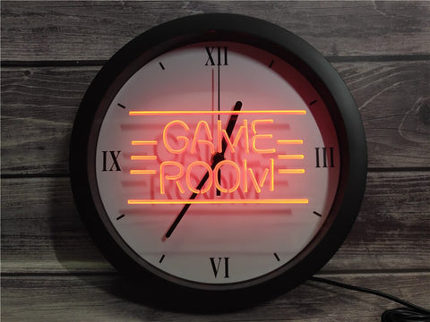 Image of Retro Game Room Bluetooth Controlled Wall Clock
