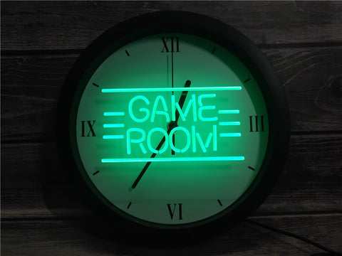Retro Game Room Bluetooth Controlled Wall Clock
