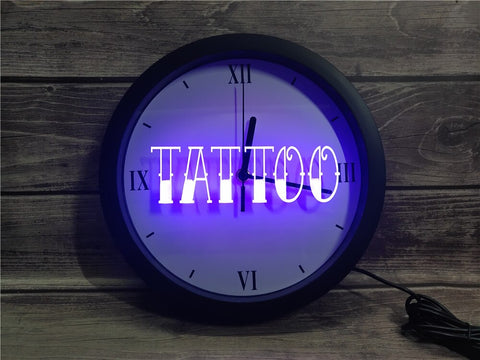Image of Tattoo Shop Bluetooth Controlled Wall Clock