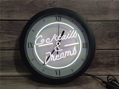 Cocktails & Dreams Bluetooth Controlled Wall Clock