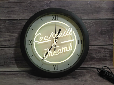 Image of Cocktails & Dreams Bluetooth Controlled Wall Clock