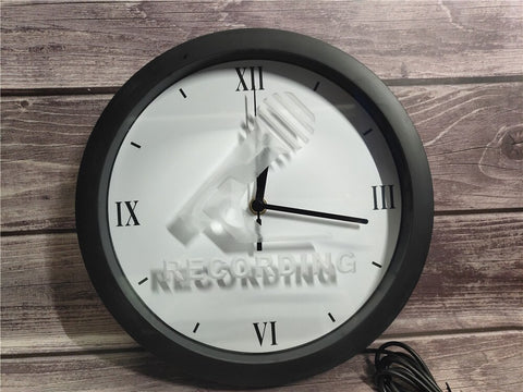 Image of Recording Microphone Bluetooth Controlled Wall Clock