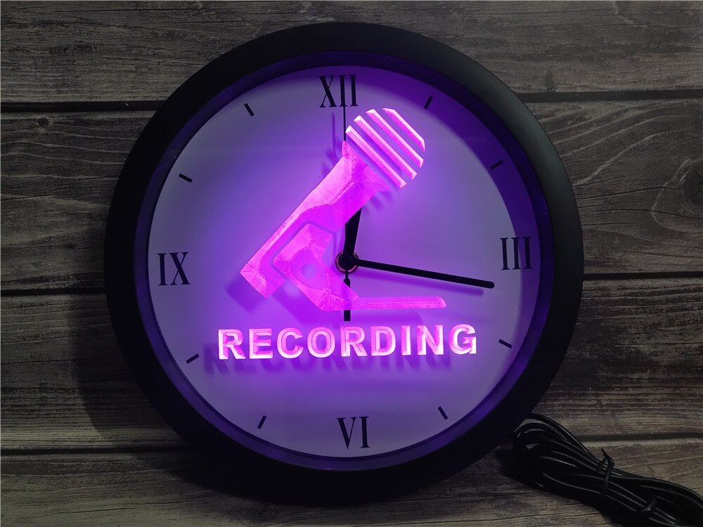 Recording Microphone Bluetooth Controlled Wall Clock