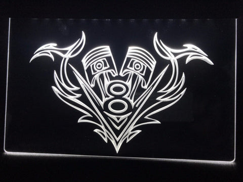 Image of V8 Piston Illuminated Sign