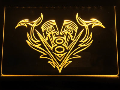 V8 Piston Illuminated Sign