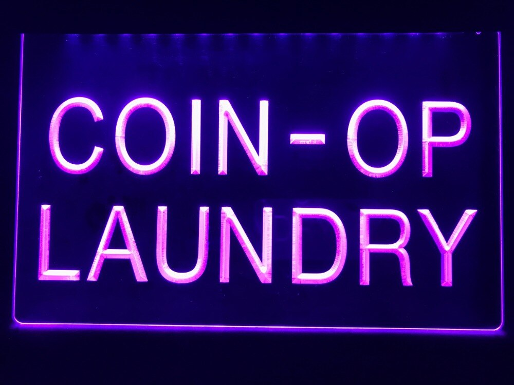 Coin-op Laundry Illuminated Sign