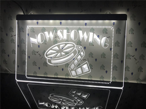 Image of Now Showing Movie Illuminated Sign