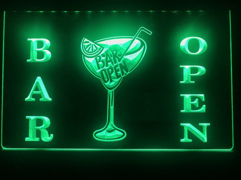 Cocktail Bar Open Illuminated Sign