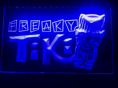 Freaky Tiki Bar Illuminated LED Sign