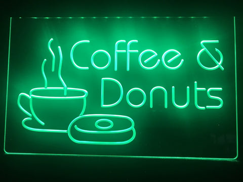 Image of Coffee & Donuts Illuminated Sign