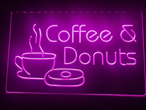 Coffee & Donuts Illuminated Sign