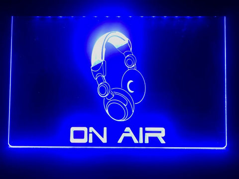 On Air Headphones Illuminated Sign