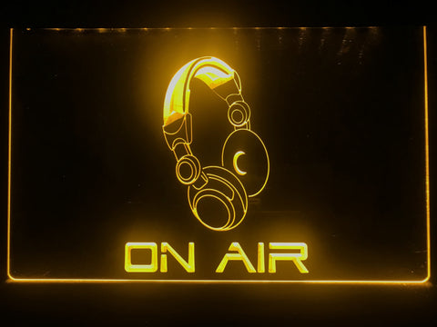 Image of On Air Headphones Illuminated Sign