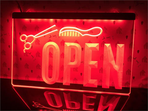 Image of Open Hairdressers Illuminated Sign