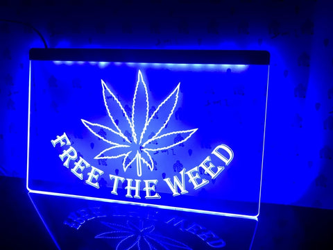 Image of Free The Weed Illuminated LED Sign