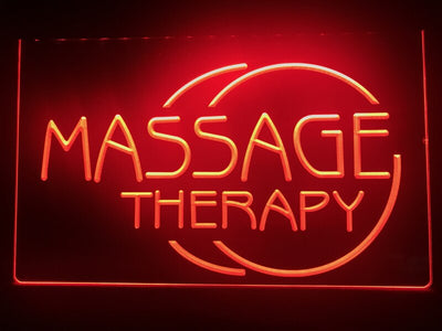 Massage Therapy Illuminated Sign
