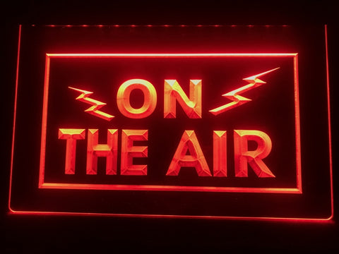 Image of On The Air Radio Waves Illuminated Sign