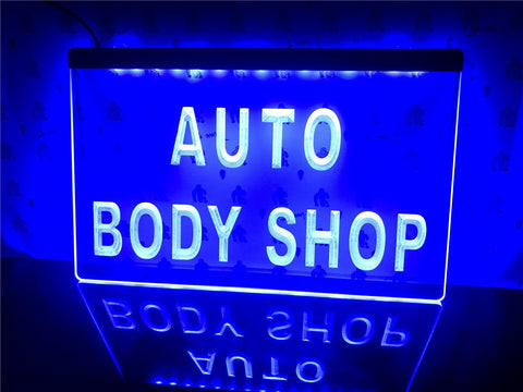Image of Auto Body Shop Illuminated Sign