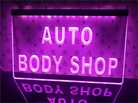 Auto Body Shop Illuminated Sign