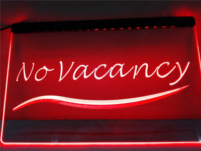 No Vacancy Illuminated Sign