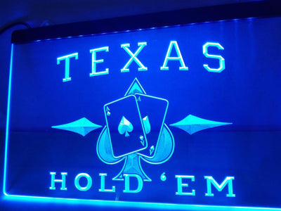 Texas Hold'em Poker Illuminated Sign