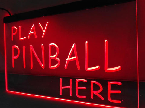 Image of Play Pinball Here Illuminated Sign