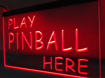 Play Pinball Here Illuminated Sign