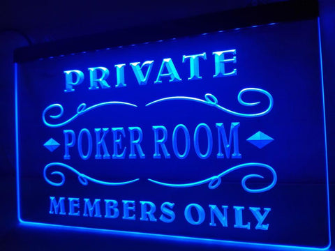 Image of Private Poker Room Illuminated Sign