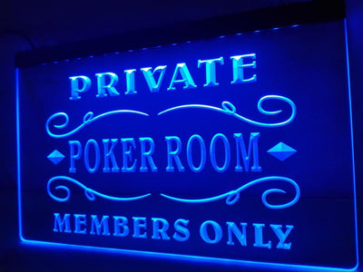 Private Poker Room Illuminated Sign