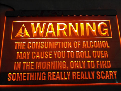 Alcohol Warning Illuminated Sign