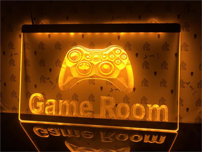 Game Room Controller Illuminated Sign